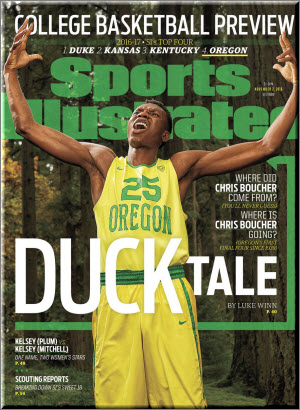 Oregon is on the SI Pre-season Basketball Issue cover for the first time ever
