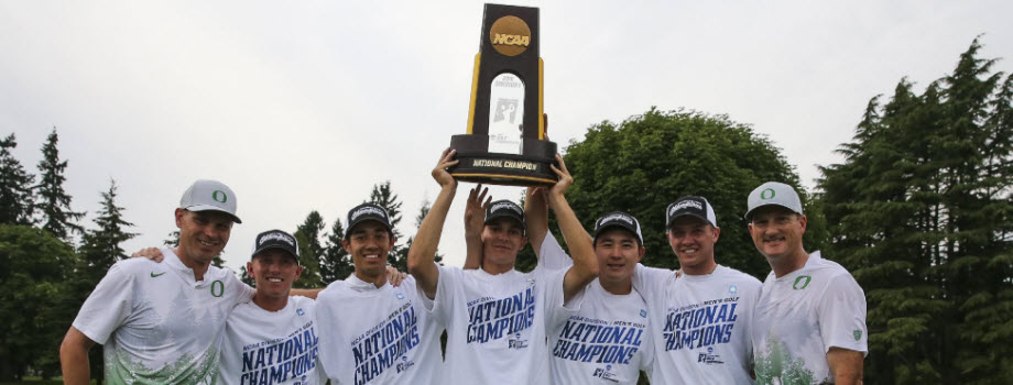 UO NCAA Champs 2016 Golf