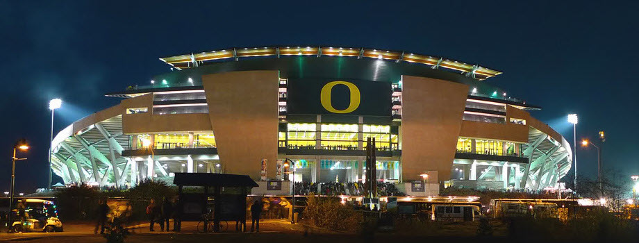 UO Autzen at Night